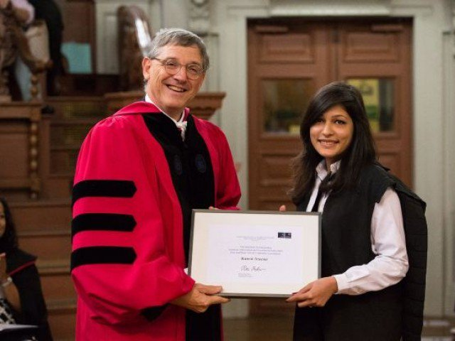 زن پاکستانی برنده جایزه آکادمیک Saïd