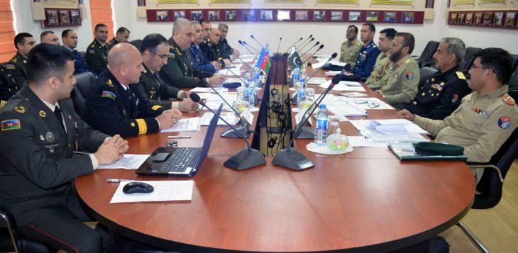 جلسه نهایی کردن کارگروه ارتش جمهوری آذربایجان و پاکستان