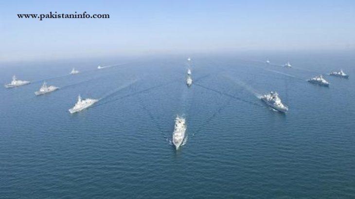 رزمایش دریایی پاکستان و عربستان