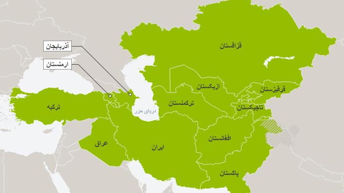 کشور های منطقه ای در آئین استقبال بهار