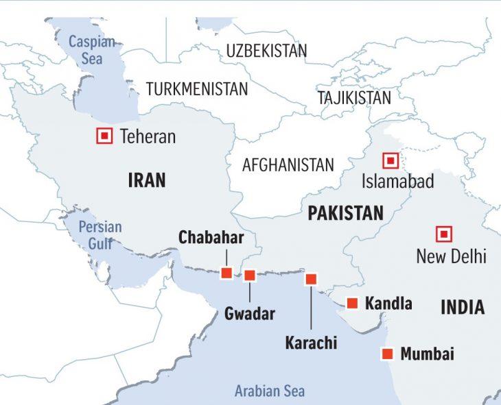 نقشه ایران و پاکستان