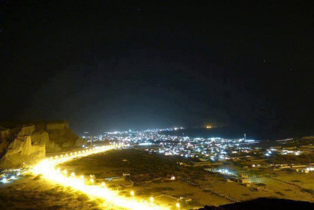 Night-view-of-Gwadar.