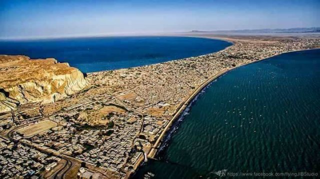 Stunning-View-of-Gwadar-City-Flying