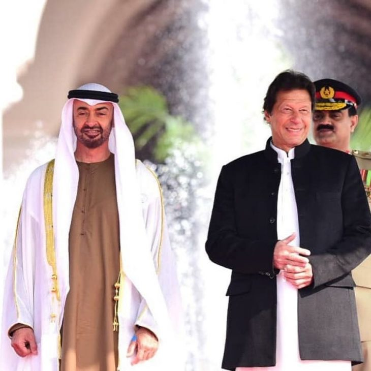 Prime Minister Imran Khan and Crown Prince of #AbuDhabi H.H Mohamed Bin Zayed @MohamedBinZayed