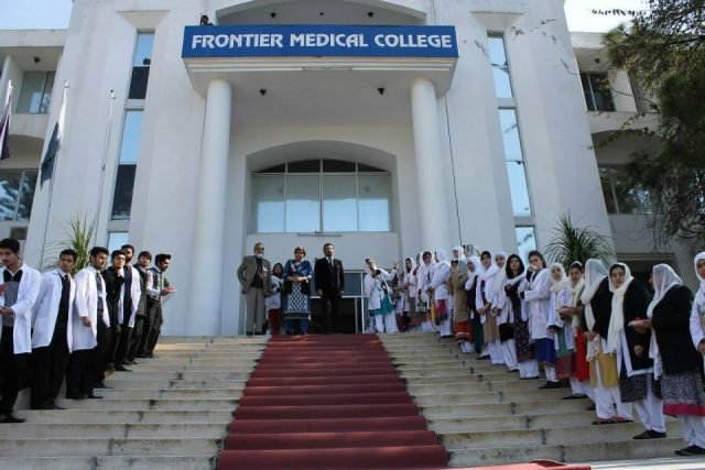 1.-Students-of-Frontier-Medical-College-standing-in-a-row-to-welcome-the-Chief-Guest