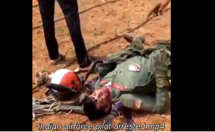 ویدیوی از دستگیری خلبان هندی توسط ارتش پاکستان