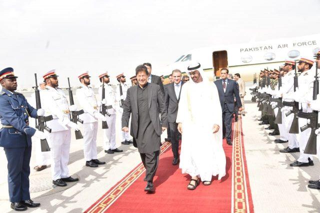 Pakistani PM Imran Khan arrival dubai