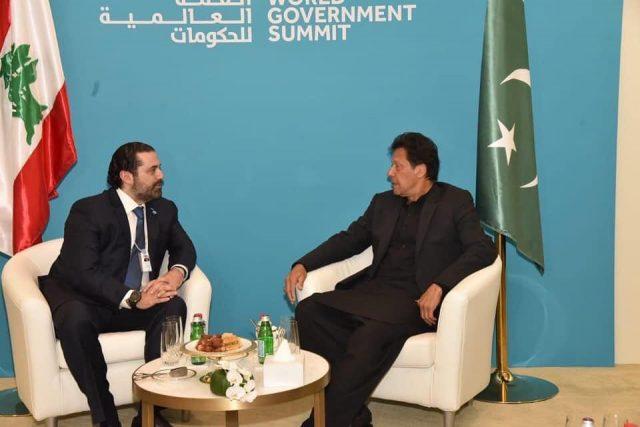Prime Minister Imran Khan meets Prime Minister of Lebanon