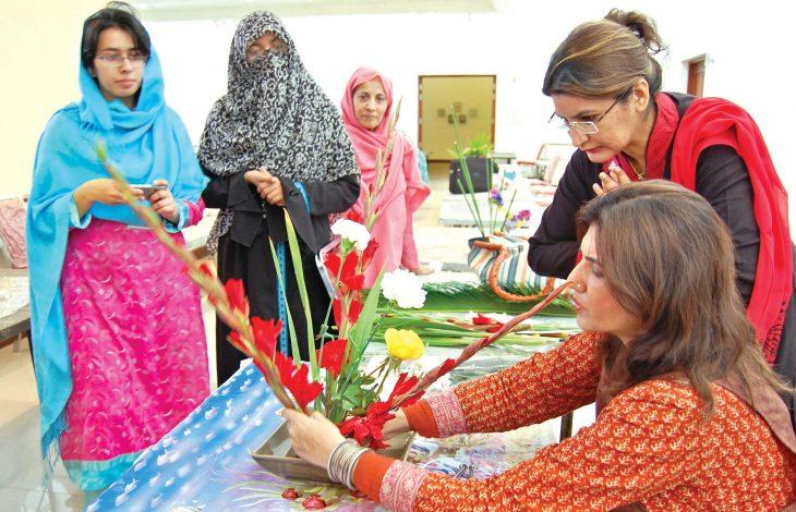 نمایشگاه گل آرایی توسط ژاپن در پاکستان