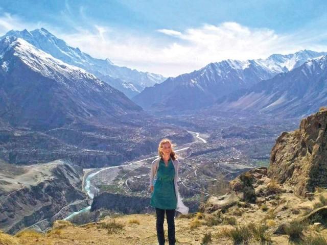 German tourist Sarah in pakistan