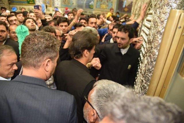 Imran khan in holly shrine