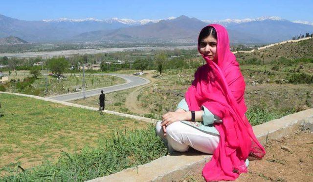 Malala yousafzei in Pakistan's Swat Valley