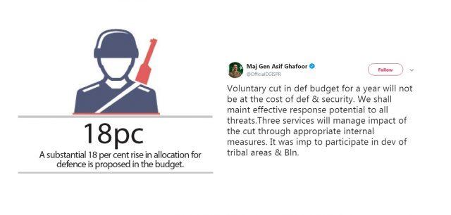 کاهش در بودجه دفاعی در پاکستان توسط ارتش