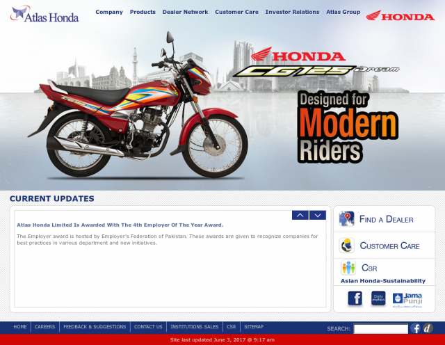 apan's two automakers Atlas Honda and DID Group start making motorcycle chains in Pakistan.