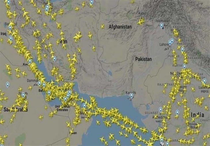 حریم هوایی پاکستان برای کشور های شرقی