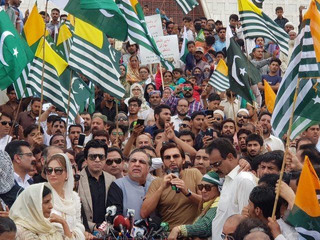 pakistani people in kashmir hour