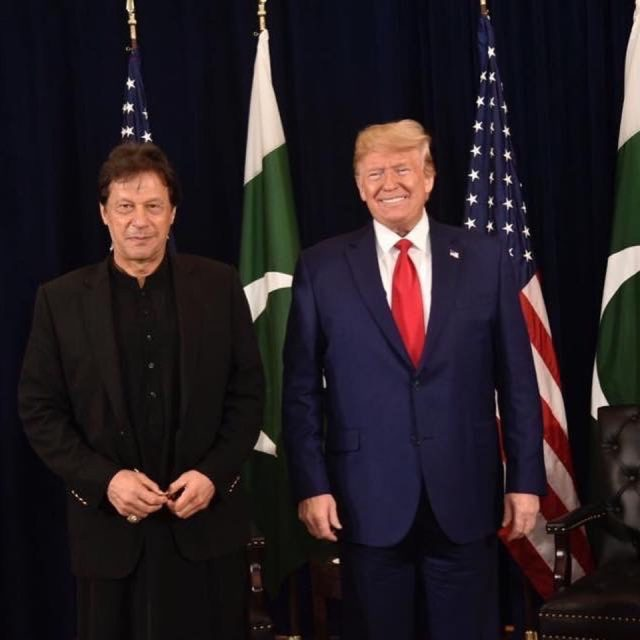 Prime Minister Imran Khan with US President Donald J. Trump