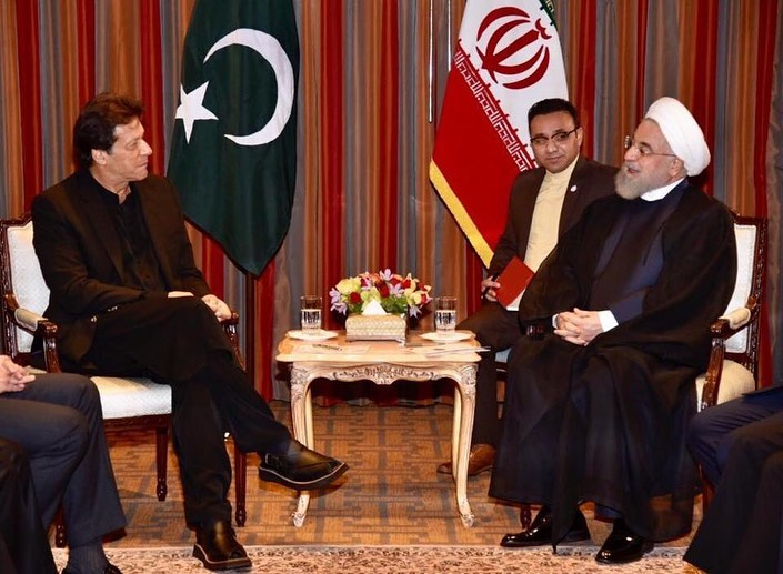 Prime Minister Imran Khan calls on President of Iran H.E. Hassan Rouhani .