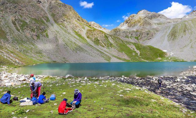 16 Visitors enjoy the scenic beauty and serenity of Mastij Lake.