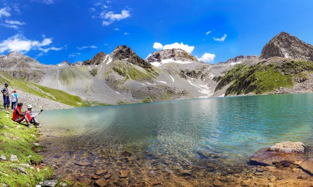 An enchanting view of the serene Mastij Lake.