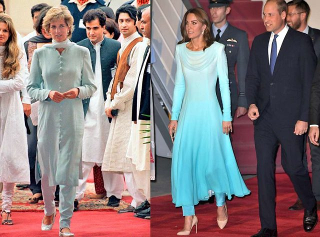 Kate Middleton Channels Princess Diana at the Start of Pakistan