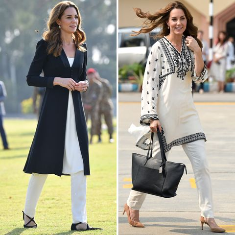Kate Middleton Wears Two Black and White Outfits in Pakistan