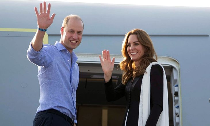 Britain's Prince William and Catherine, Duchess of Cambridge, depart Islamabad, Pakistan, October 18, 2019. Ian Vogler/Pool via REUTERS