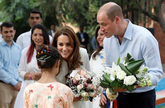 Britain's Prince William and Catherine, Duchess of Cambridge, visit SOS Children's village in Lahore, Pakistan October 17, 2019.