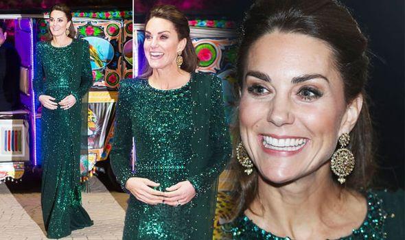 Kate Middleton wears green Jenny Packham dresS