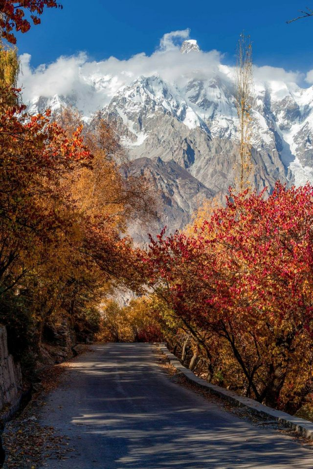 hunza valley in antume