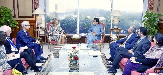 Prime Minister Imran Khan receives Her Majesty Queen Maxima of Netherlands