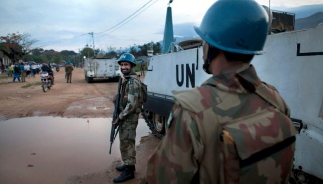 MONUSCO Pakistany Peacekeepers patrolling the streets of Uvira in South Kivu , the 22nd of October 2012. © MONUSCO/Sylvain Liechti