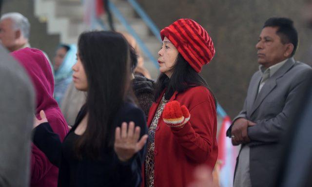 Christian devotees attend Christmas Day prayers