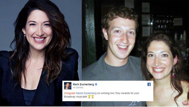 Internet Misinterpret Mark's Sister Randi Zuckerberg Name