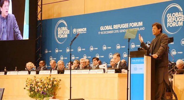 PM Imran Khan addressing the Global Refugee Forum