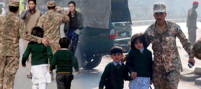 Army Public School Peshawar Students Salute