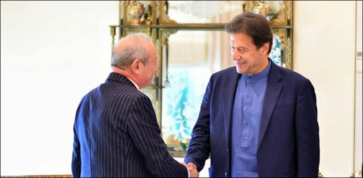 Egyptian Business Tycoon #NaguibSawiris met PM #ImranKhan