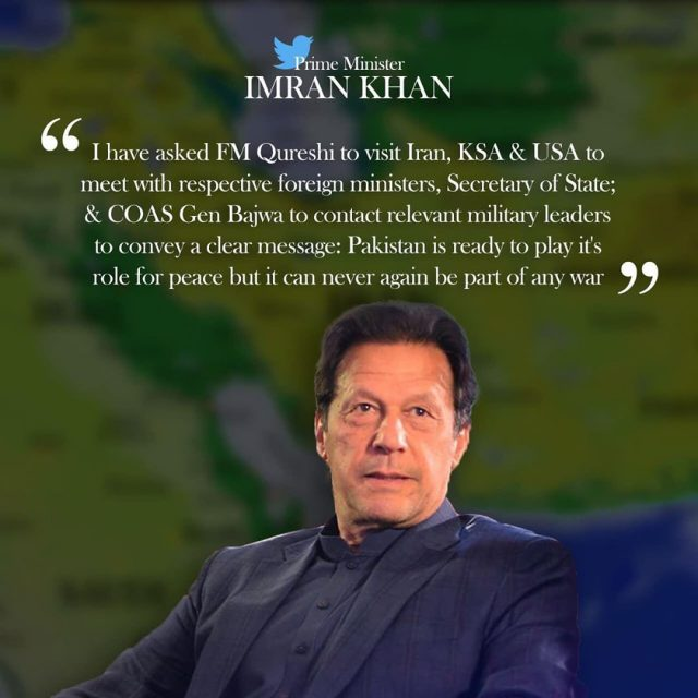 Pakistan not to take part in anyone else's war, Imran Khan says