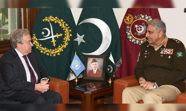 In meeting with COAS, UN chief thanks Pakistan