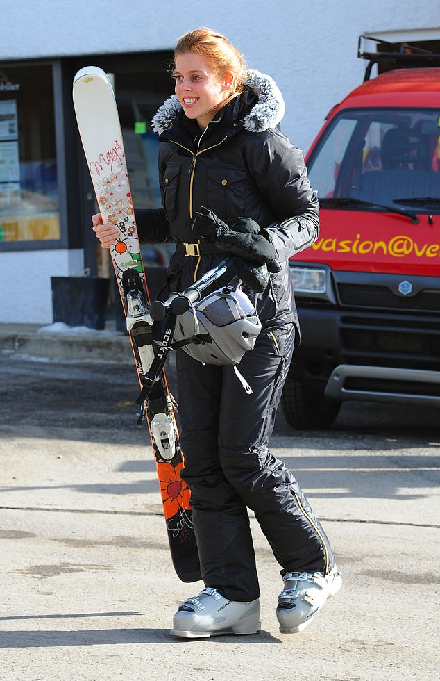 Princess Beatrice is a keen skiier