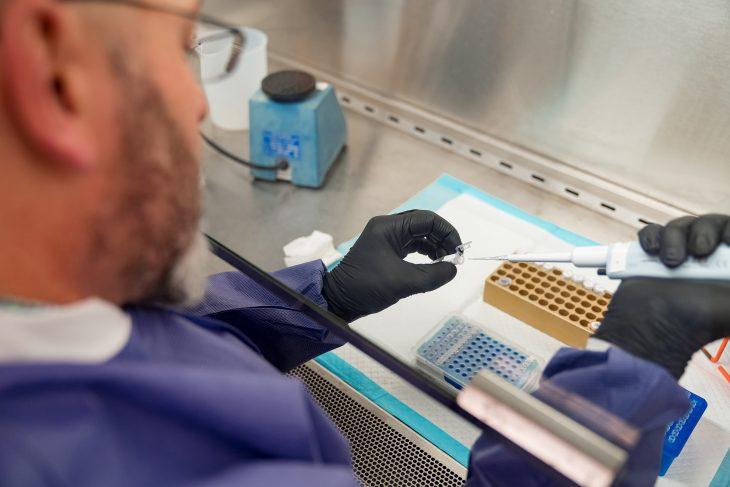 Corona virus test facility