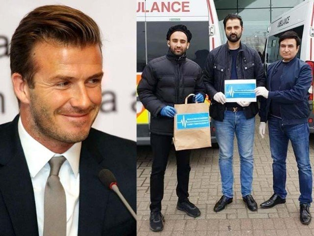 Beckham endorses British Pakistanis' initiative to feed workers fighting COVID-19