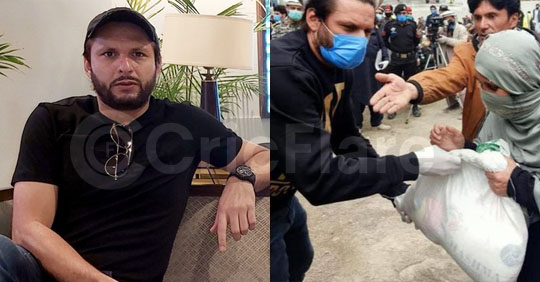 Shahid Afridi to work for brands in exchange for ration, relief funds amid lockdown