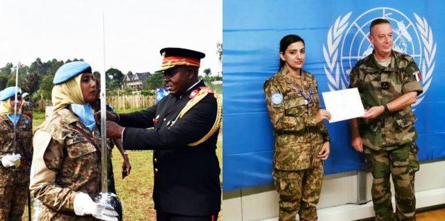 The first-ever female Pakistani UN peacekeeping team receives UN