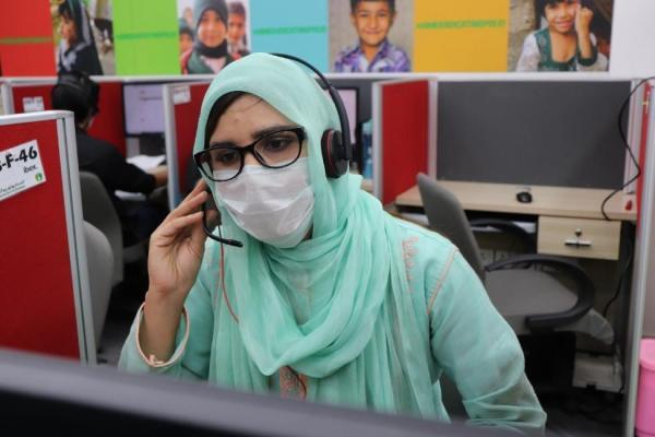 The COVID-19 helpline centre in Pakistan