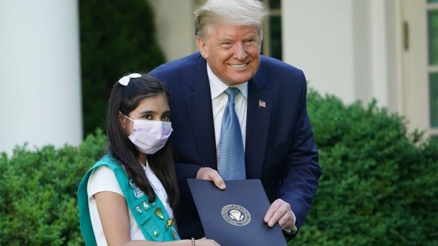 Trump lauds Pakistani-American girl scout as 'coronavirus hero