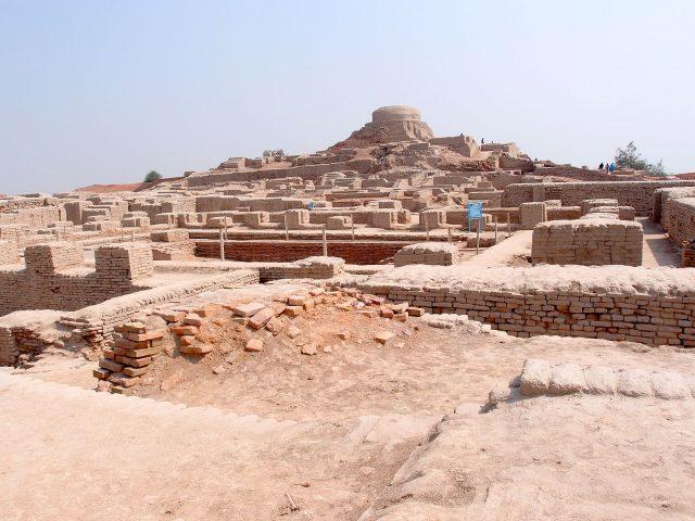 Mohenjodaro view of the stupa mound