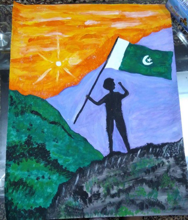 نقاشی پرچم پاکستان