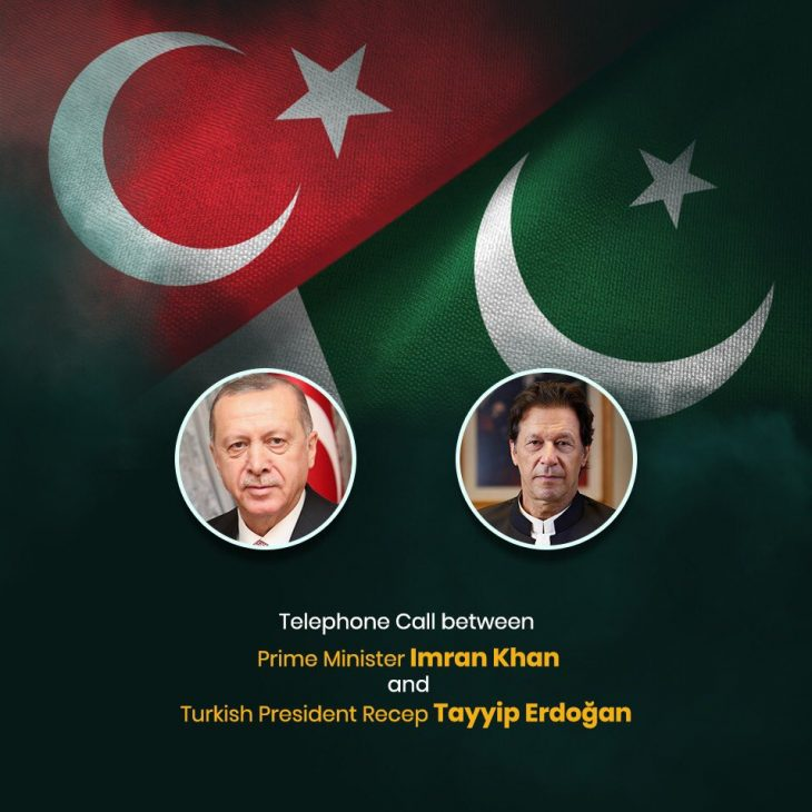 Prime Minister ImranKhan received a telephone call from H.E. Mr. Recep Tayyip Erdogan