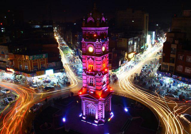 7 Clock Tower in Faisalabad